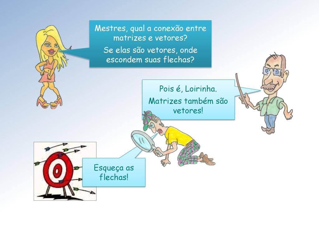 Mestres, qual a conexão entre matrizes e vetore...