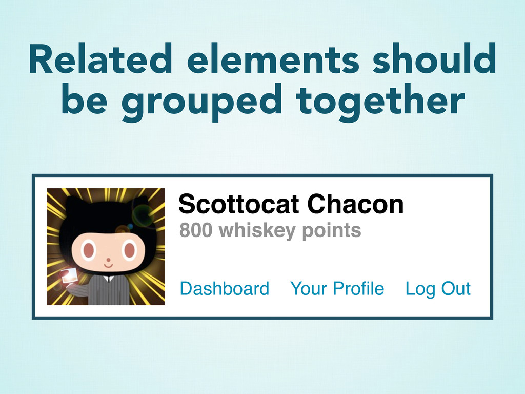 Related elements should be grouped together Sco...