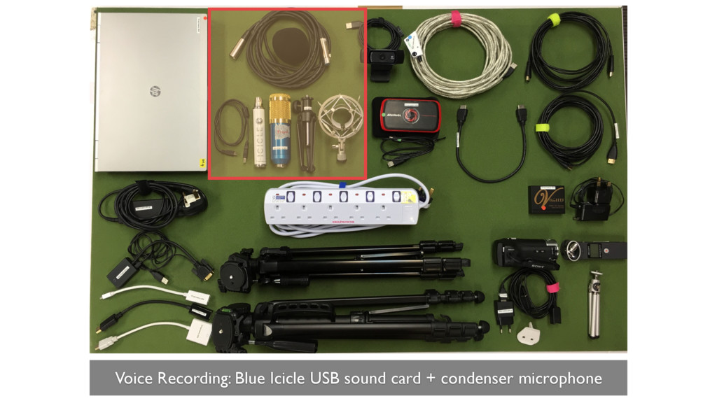 Voice Recording: Blue Icicle USB sound card + c...