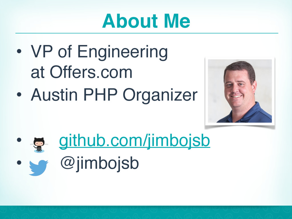 About Me • VP of Engineering at Offers.com • A...