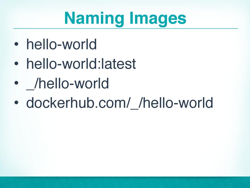 Naming Images • hello-world • hello-world:lates...
