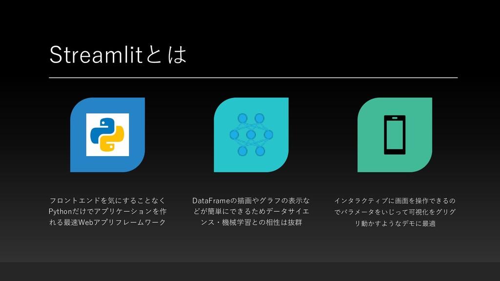 Streamlitとは フロントエンドを気にすることなく Pythonだけでアプリケーションを...