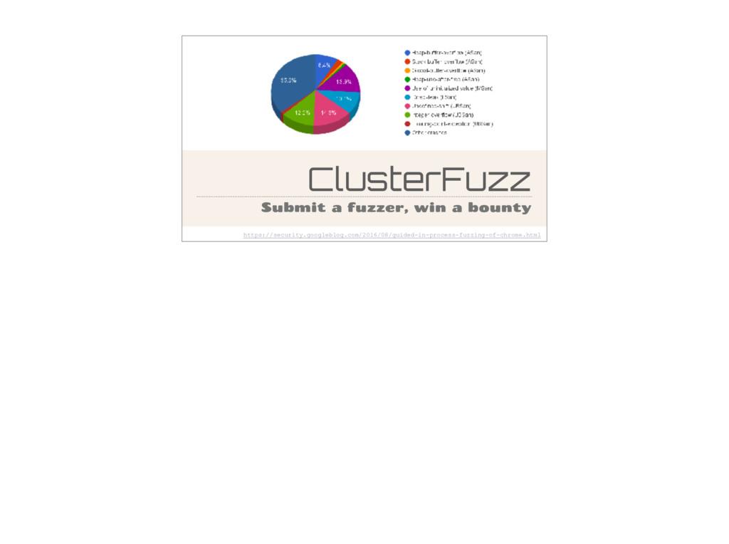 ClusterFuzz Submit a fuzzer, win a bounty https...
