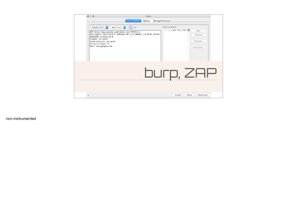 burp, ZAP non-instrumented