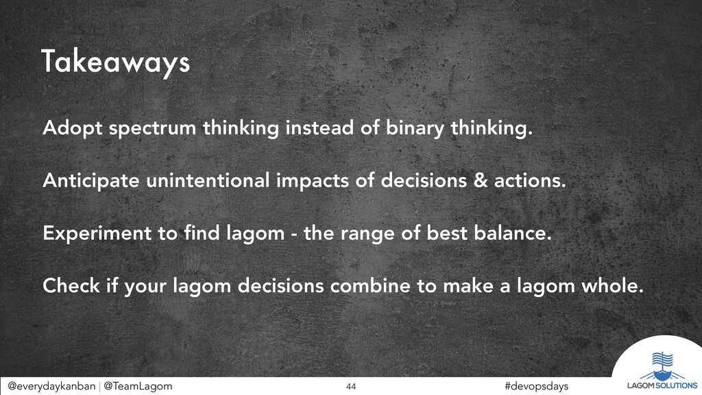 @everydaykanban | @TeamLagom !44 #devopsdays Ta...