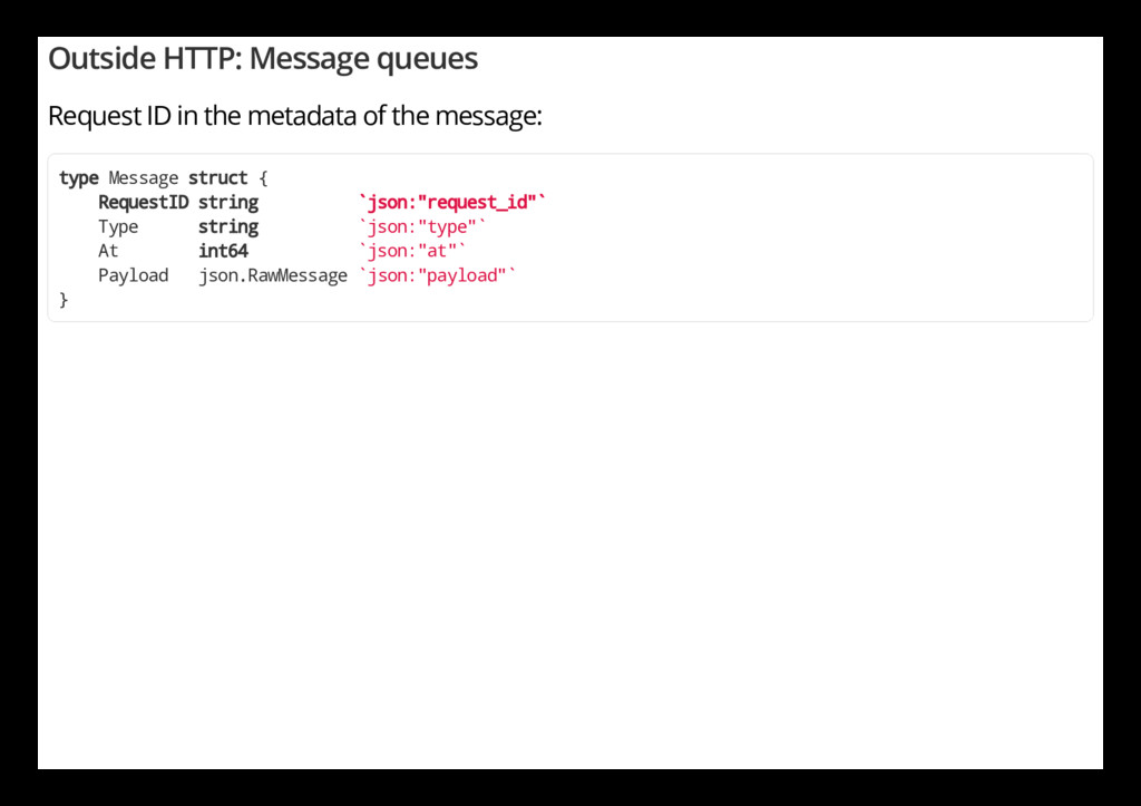 Outside HTTP: Message queues Request ID in the ...