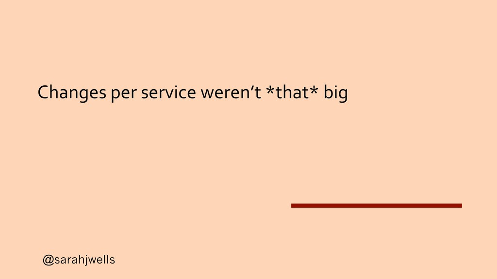 @sarahjwells Changes per service weren't *that*...