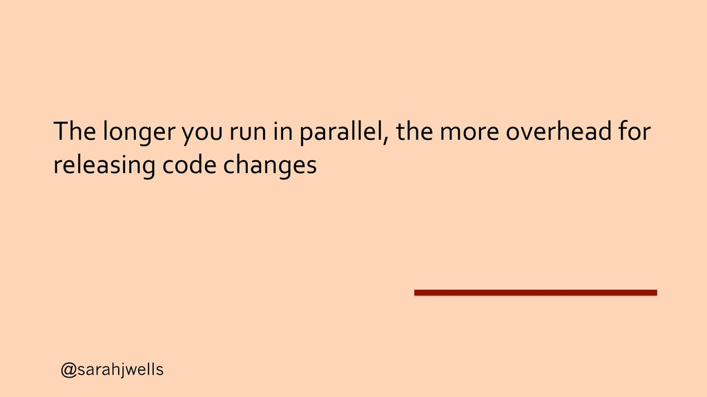 @sarahjwells The longer you run in parallel, th...