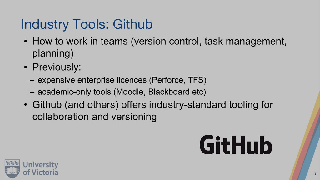 Industry Tools: Github • How to work in teams (...