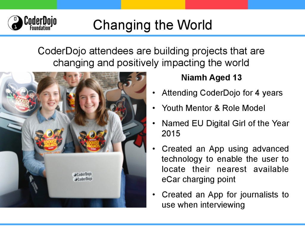Changing the World Niamh Aged 13 • Attending C...