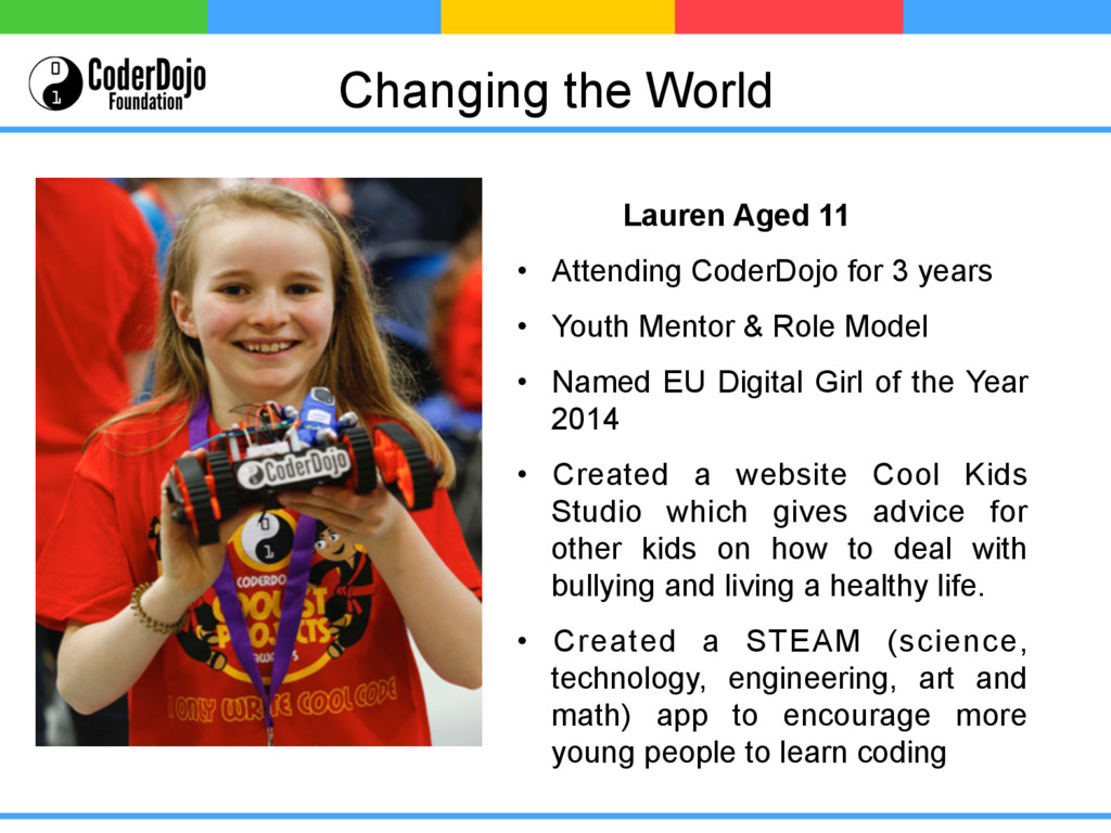 Changing the World Lauren Aged 11 • Attending ...