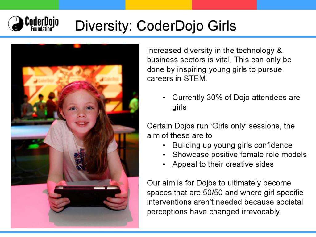 Diversity: CoderDojo Girls Increased diversity ...