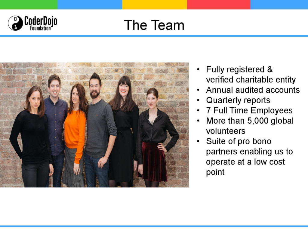 The Team • Fully registered & verified charita...