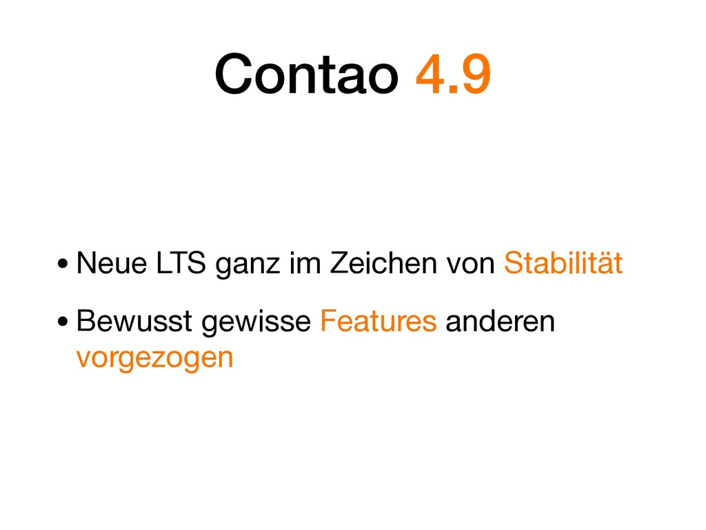 Contao 4.9 •Neue LTS ganz im Zeichen von Stabil...