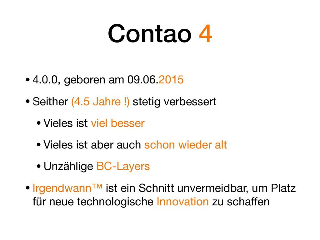 Contao 4 •4.0.0, geboren am 09.06.2015  •Seithe...