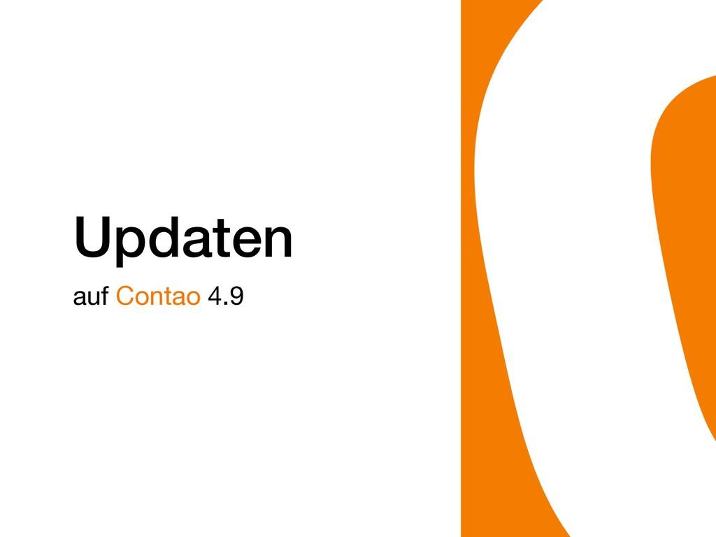Updaten auf Contao 4.9