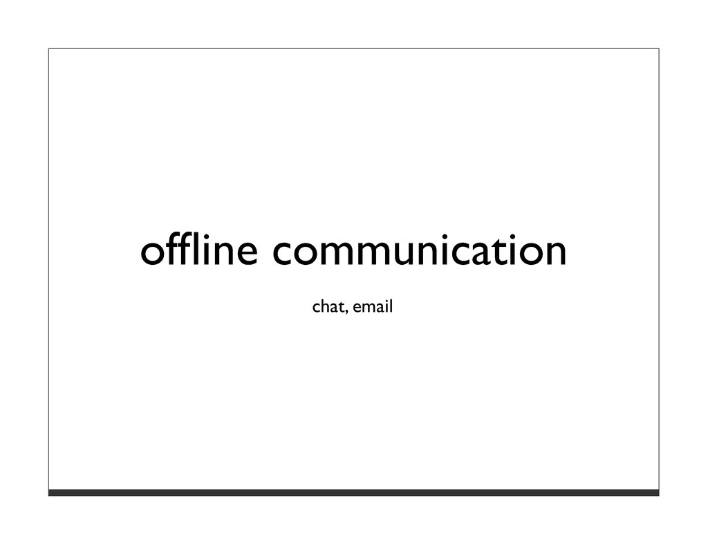 offline communication chat, email