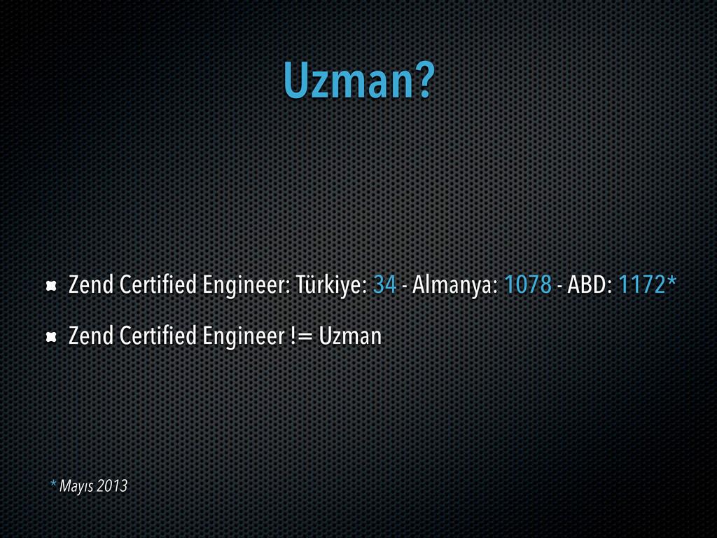 Uzman? Zend Certified Engineer: Türkiye: 34 - A...