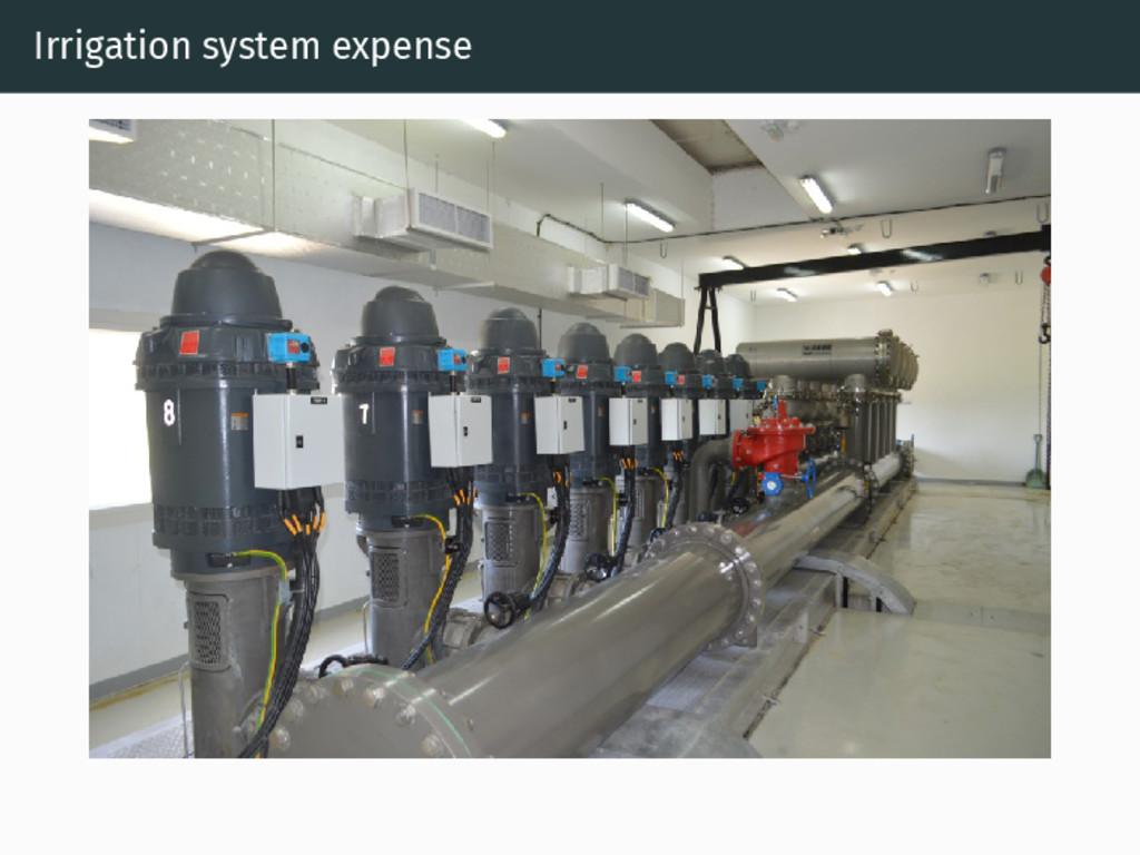 Irrigation system expense