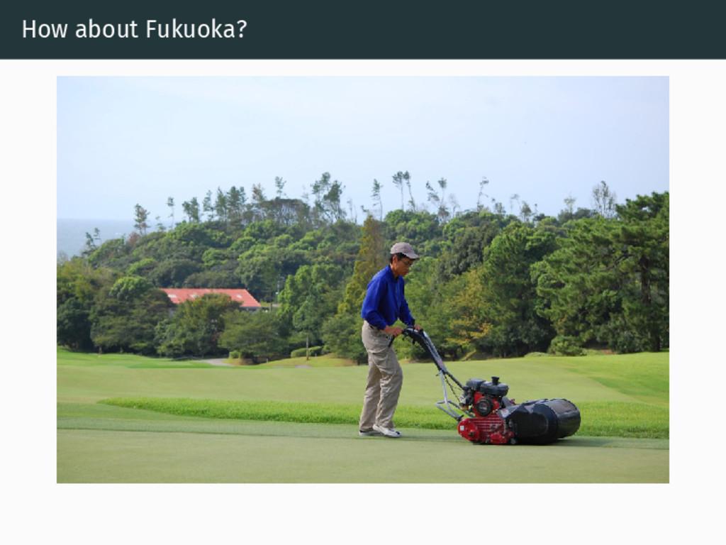 How about Fukuoka?