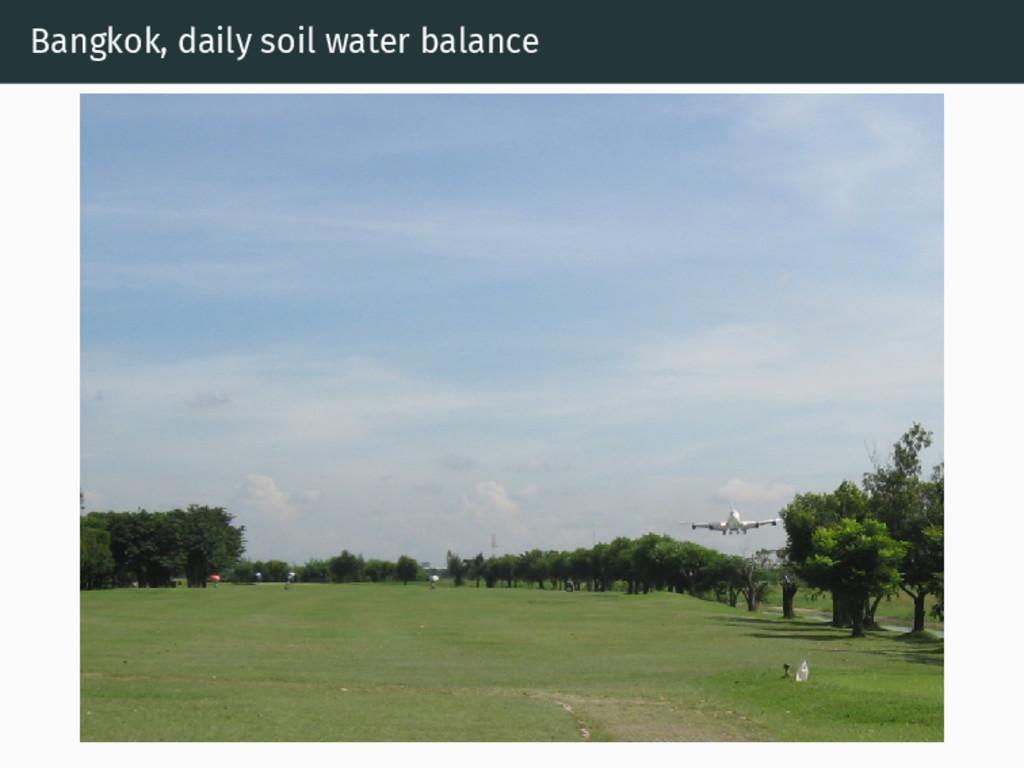 Bangkok, daily soil water balance