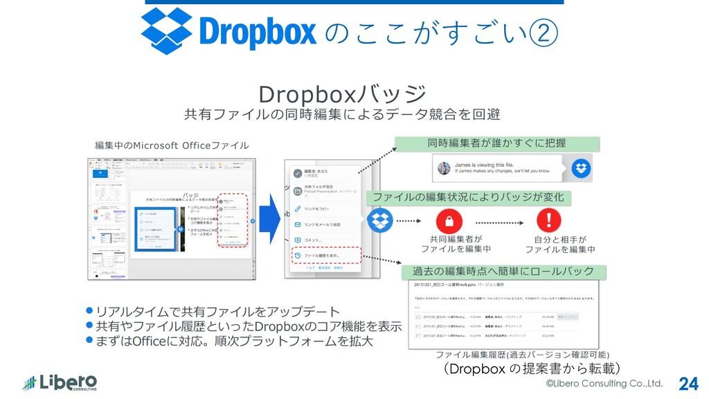©Libero Consulting Co.,Ltd. 24 のここがすごい② (Dropbo...