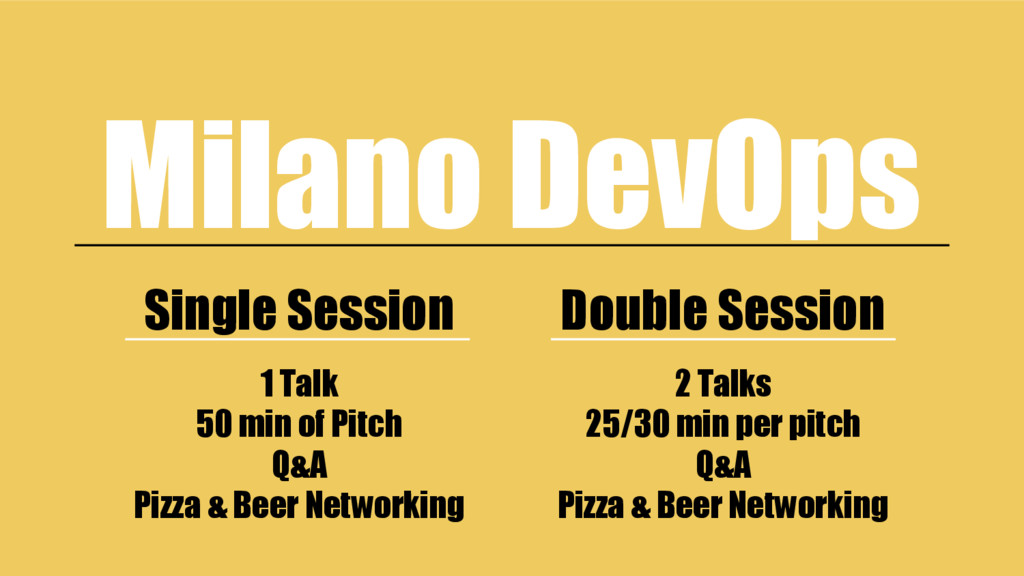 Single Session Double Session Milano DevOps 1 T...