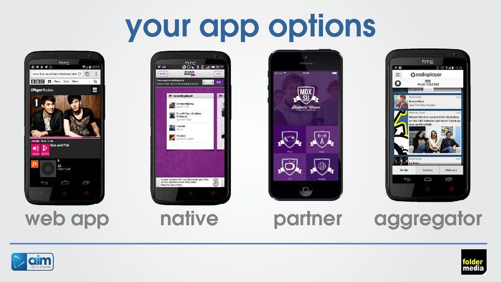 your app options web app native partner aggrega...