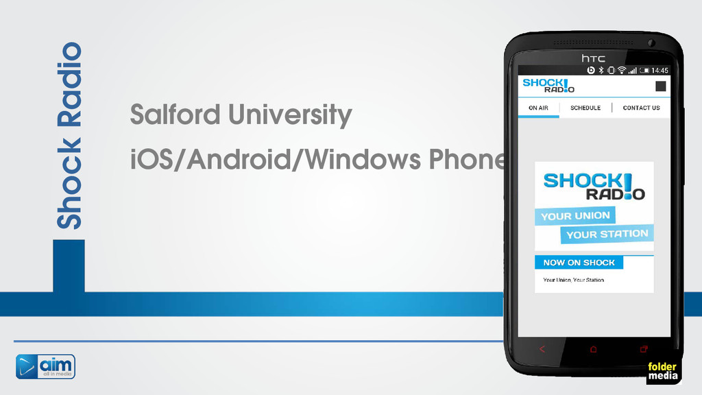 Shock Radio Salford University iOS/Android/Wind...