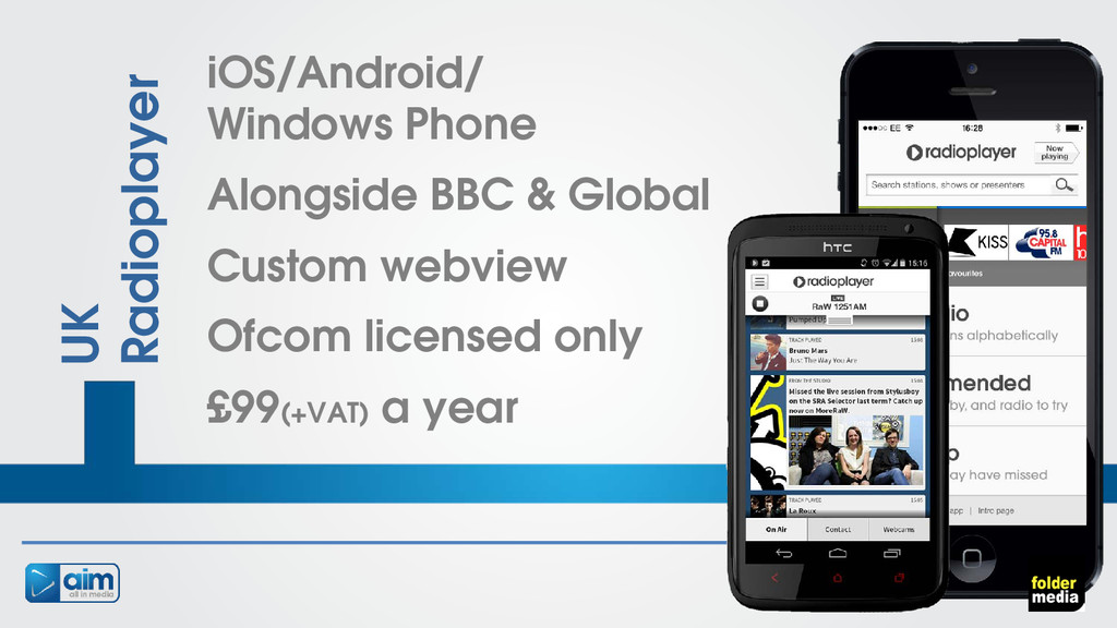 UK Radioplayer iOS/Android/ Windows Phone Along...