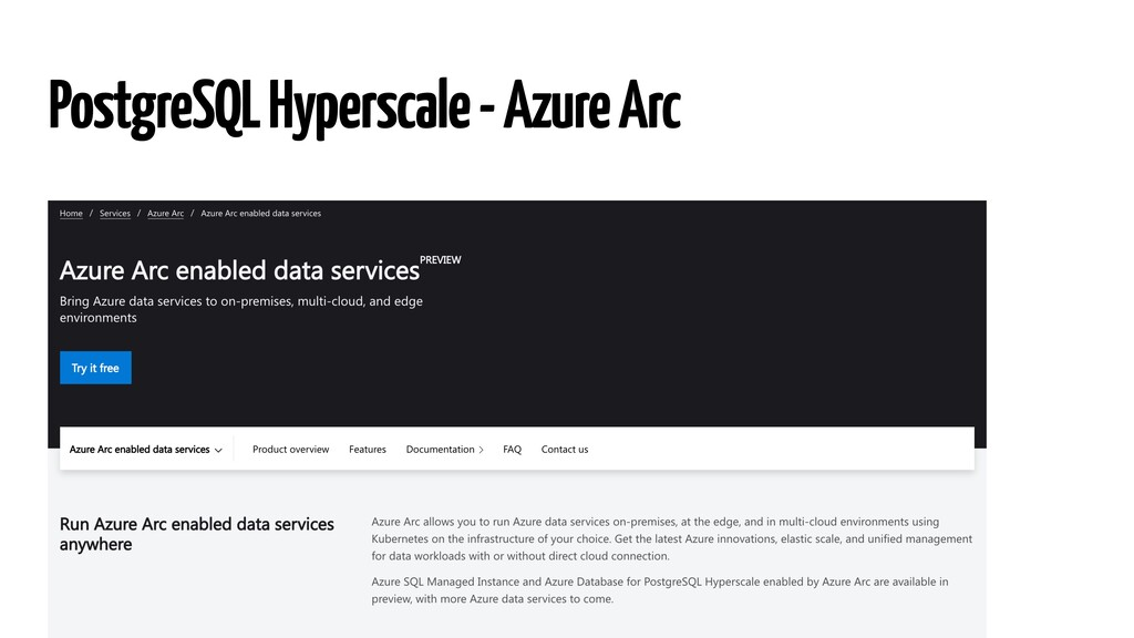 PostgreSQL Hyperscale - Azure Arc