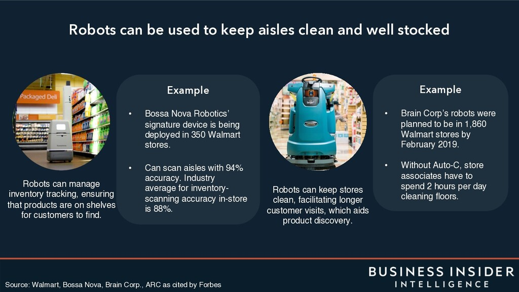 Robots can be used to keep aisles clean and wel...