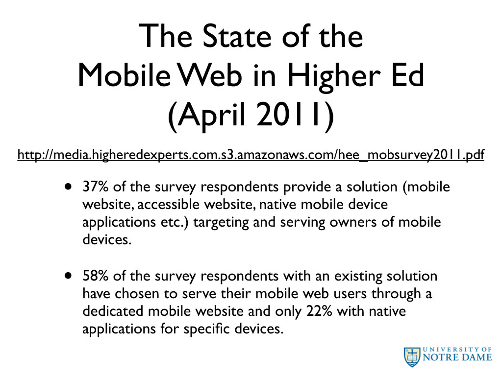 The State of the Mobile Web in Higher Ed (April...