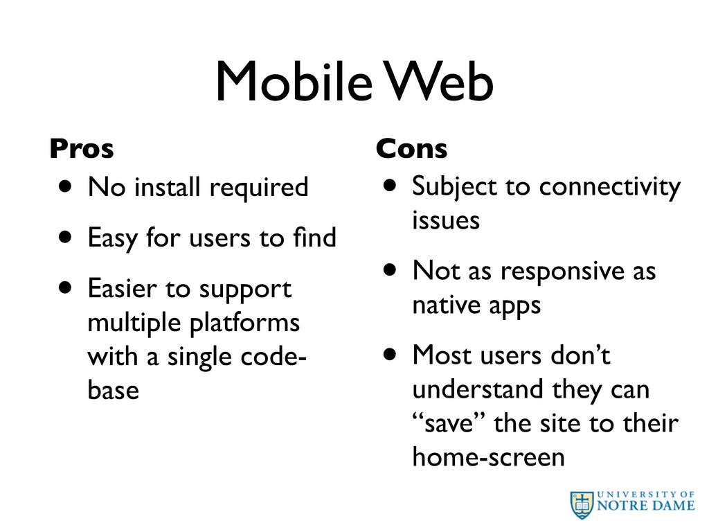 Mobile Web • No install required • Easy for use...