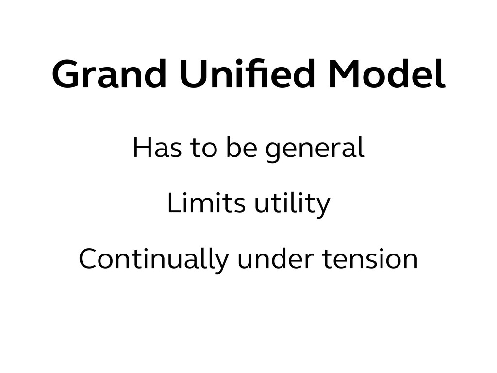 Grand Unified Model Has to be general Limits uti...