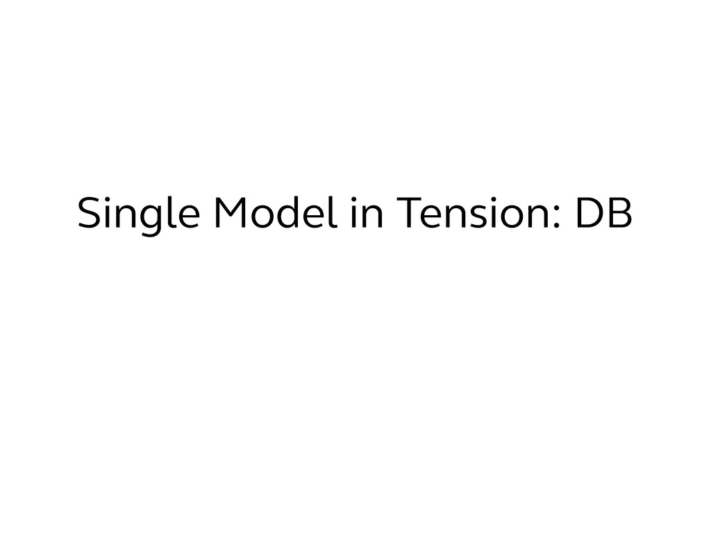 Single Model in Tension: DB