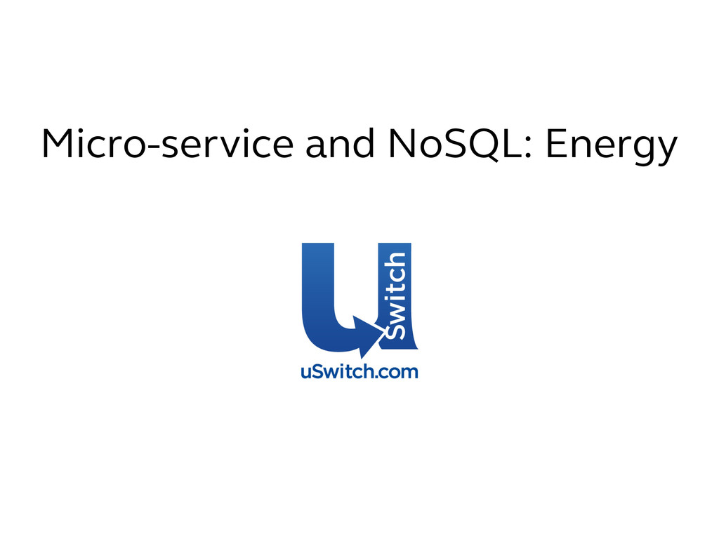 Micro-service and NoSQL: Energy