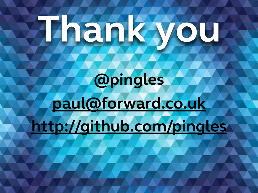 Thank you @pingles paul@forward.co.uk http://gi...