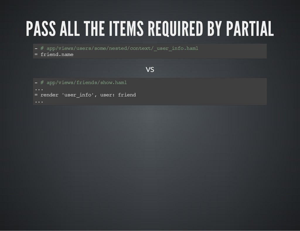 PASS ALL THE ITEMS REQUIRED BY PARTIAL - # a p ...