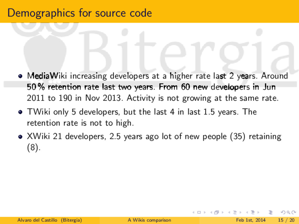 Demographics for source code MediaWiki increasi...
