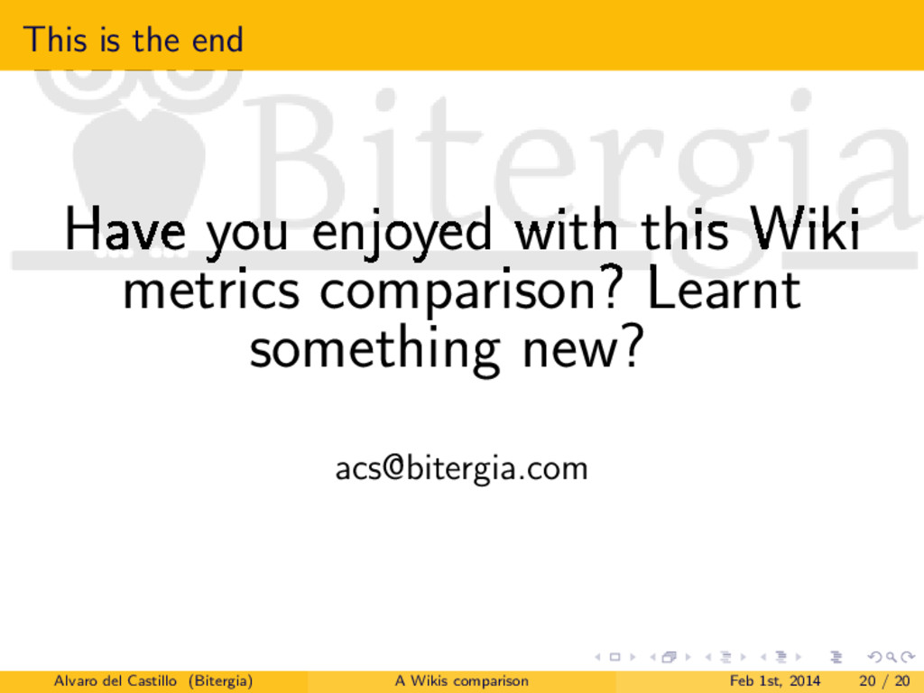 This is the end Have you enjoyed with this Wiki...