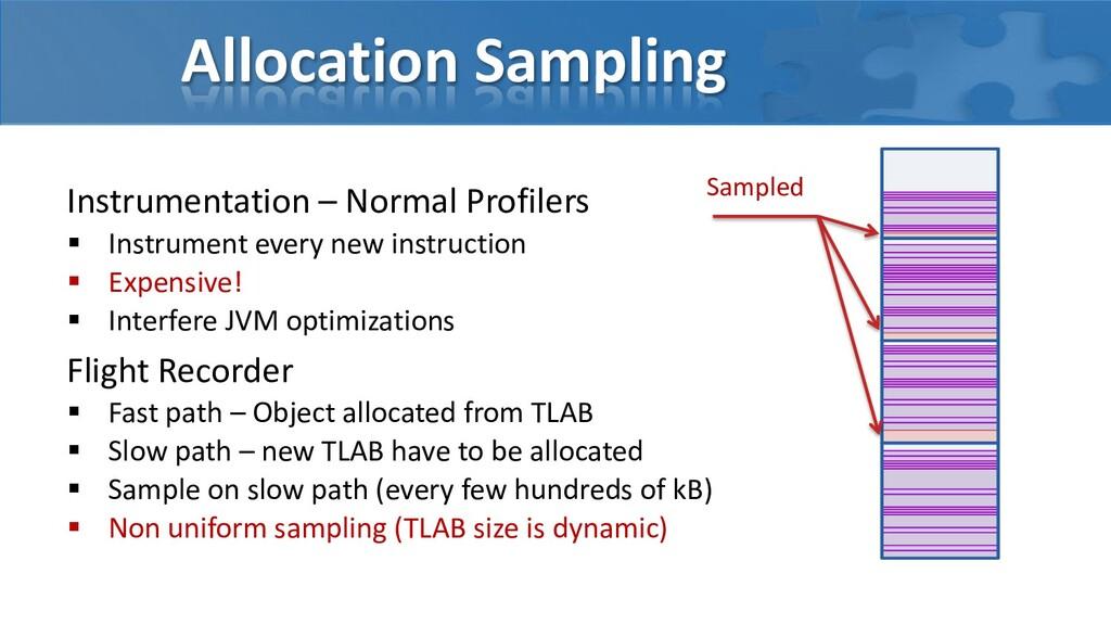 Allocation Sampling Instrumentation – Normal Pr...