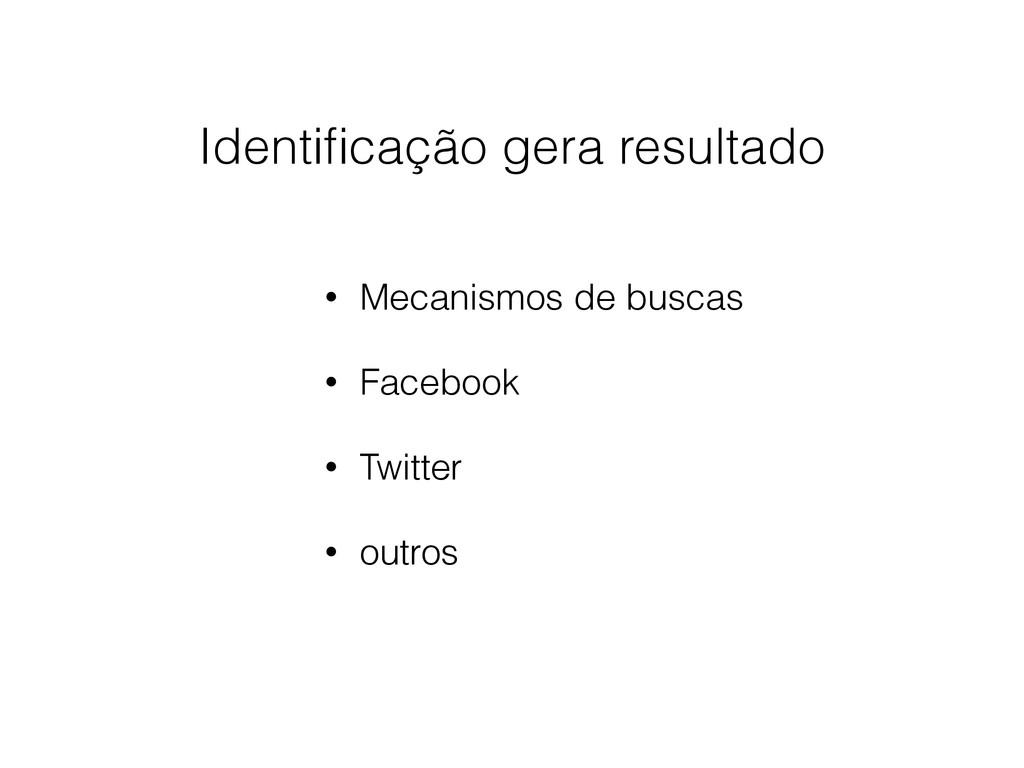 • Mecanismos de buscas • Facebook • Twitter • o...