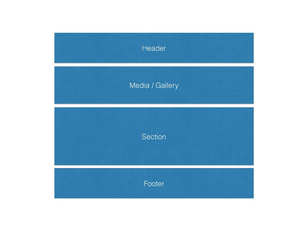 Header Footer Section Media / Gallery