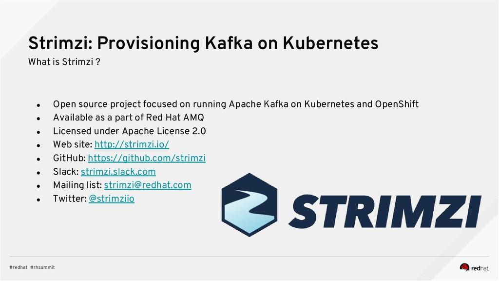 Strimzi: Provisioning Kafka on Kubernetes What ...