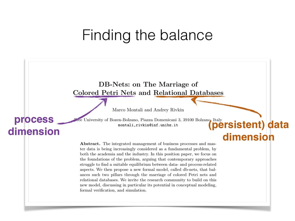 Finding the balance process dimension (persiste...