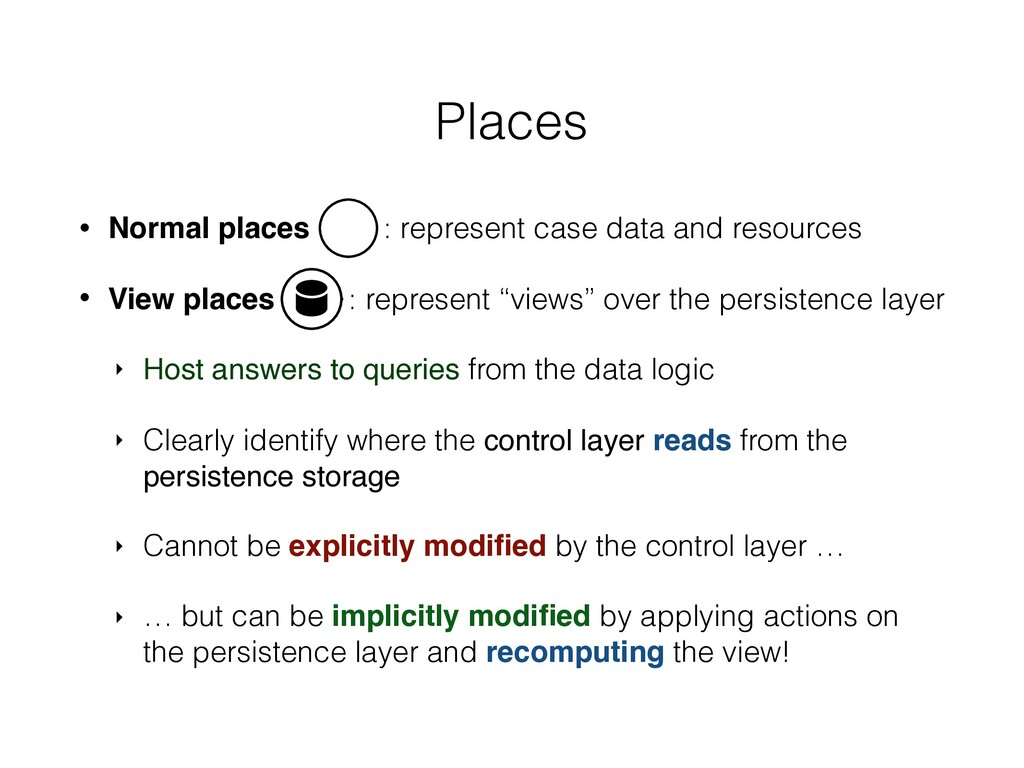 • Normal places : represent case data and resou...