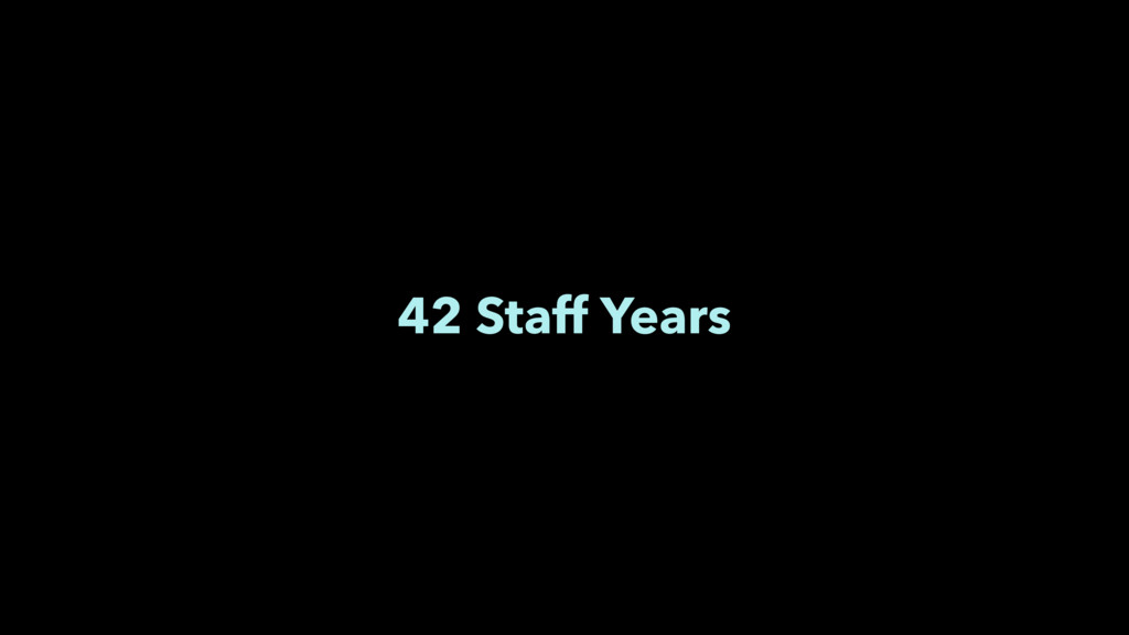 42 Staff Years