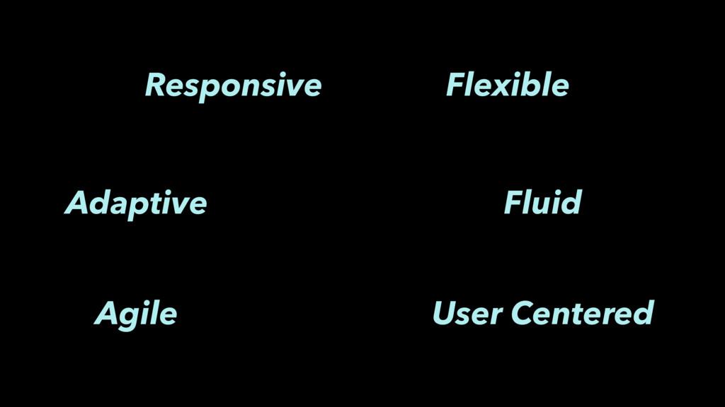 Responsive Flexible Fluid Agile User Centered A...