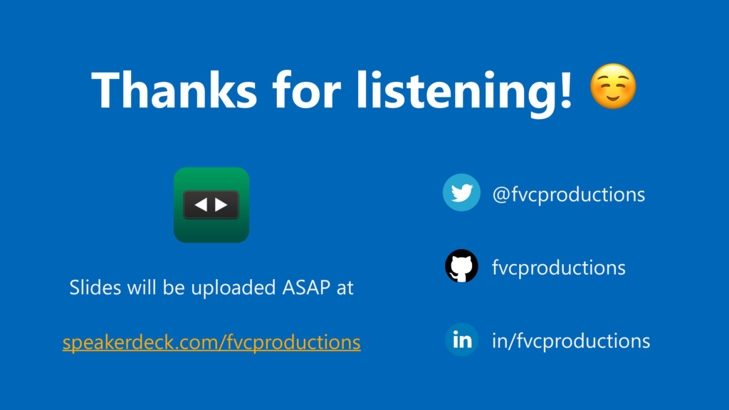 Thanks for listening! ☺ @fvcproductions fvcprod...